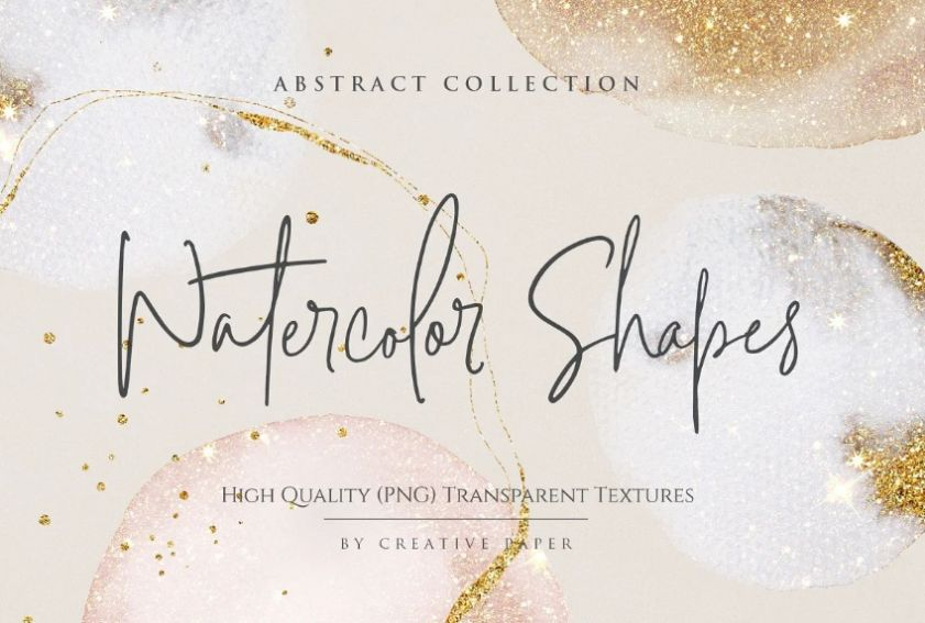 Water Color Shapes Overlay