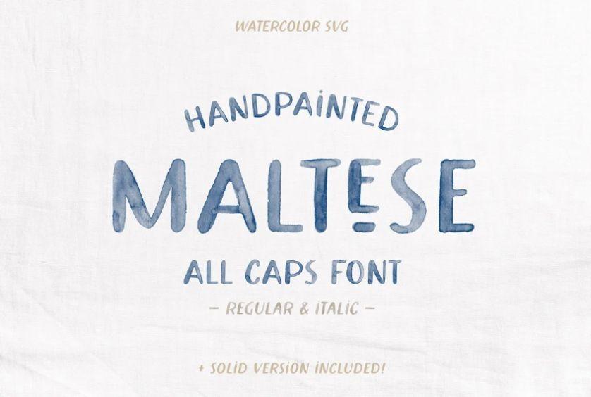Watercolor Hand Written Fonts