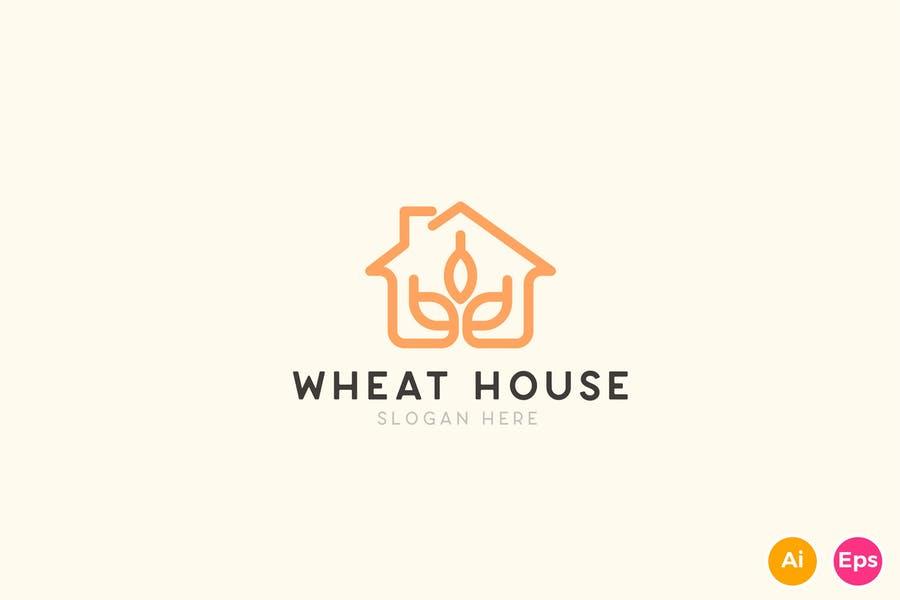 Wheat House Logo Templates