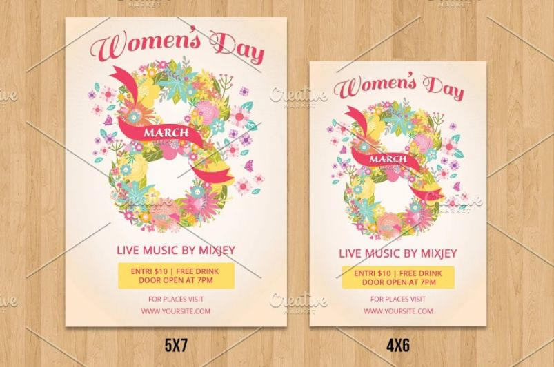 Womem's Day party Flyer