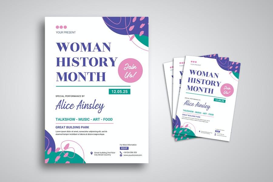 Women History Flyer Templates