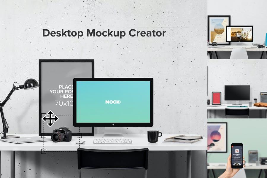 Workstation Mockup Scene