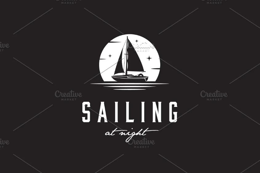 Yacht Logo Template Design