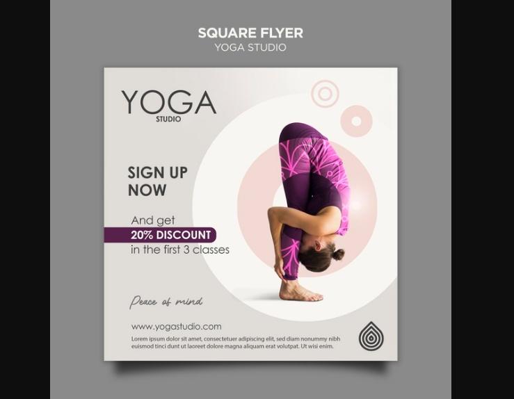 Yoga Advert Flyer Design