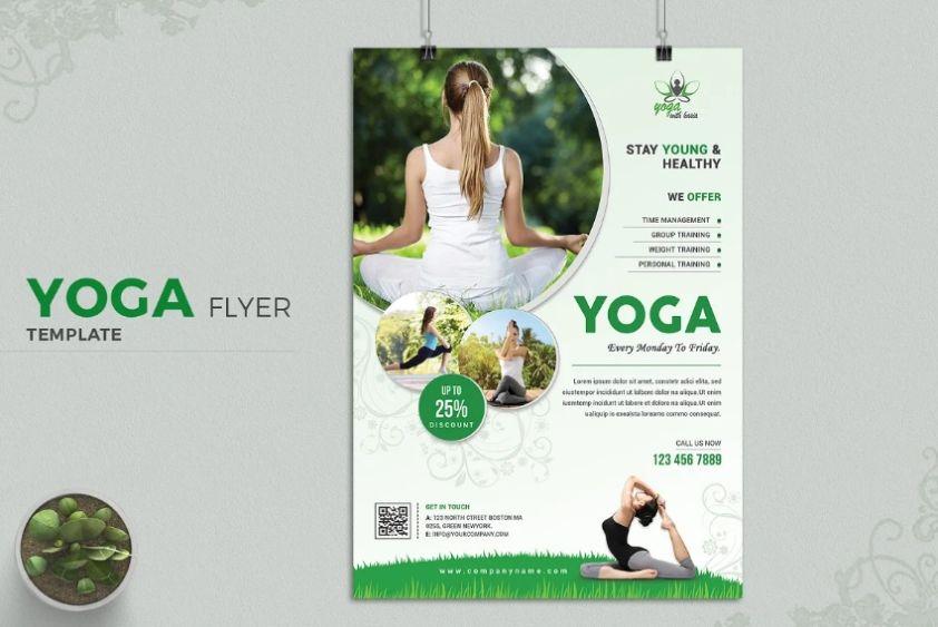Yoga Class Promotional Flyer