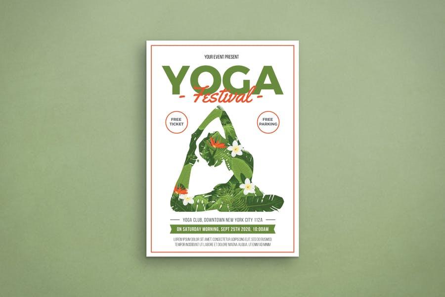 Yoga Festival Flyer PSD