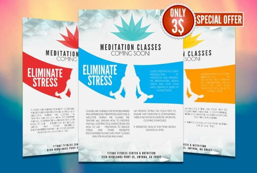 Yoga Promotional Flyer Design