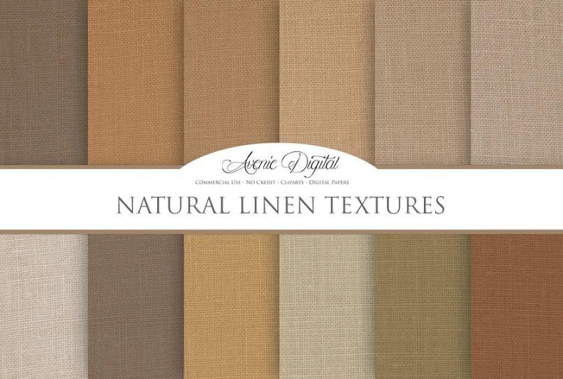 natural Linen Backgrounds