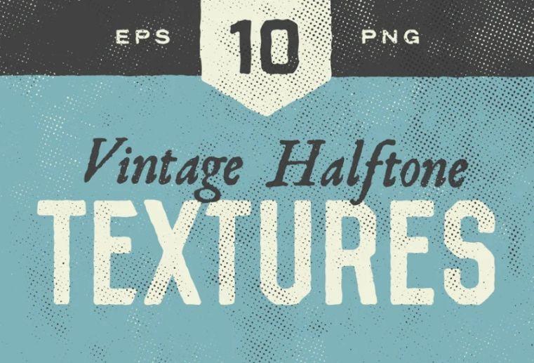 10 Grunge Halftones Texture Pack