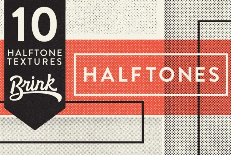 10 Halftones Texture Pack