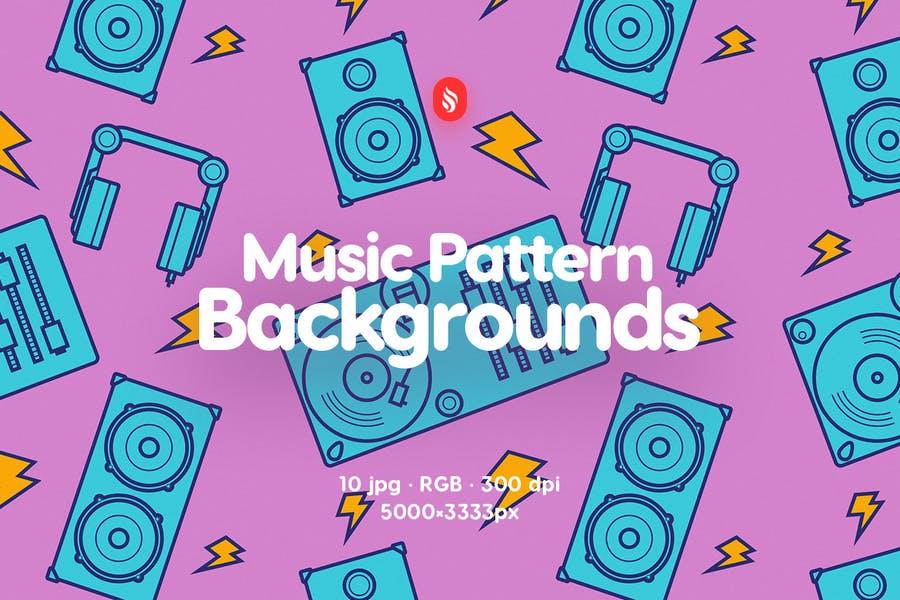 10 Music Pattern backgrounds