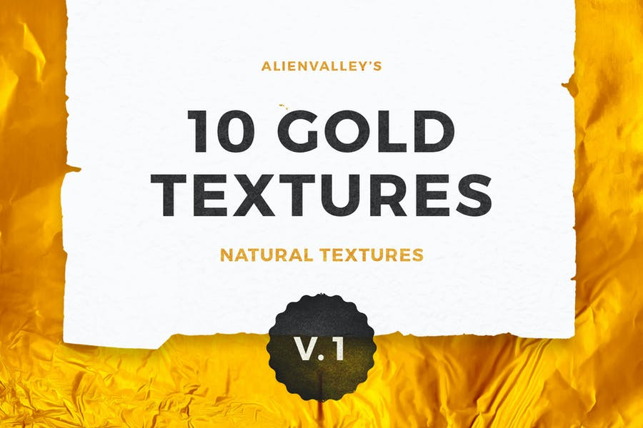 10 Natural Gold Foil Textures