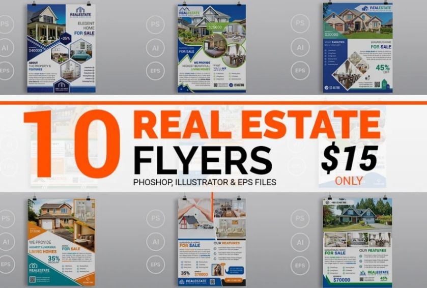 10 Real Estate Flyers Bundle