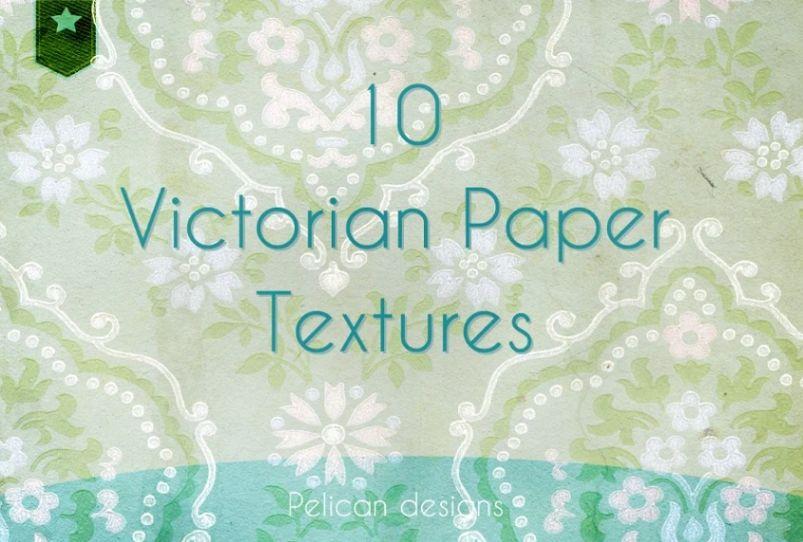 10 Victorian Wallpaper Set