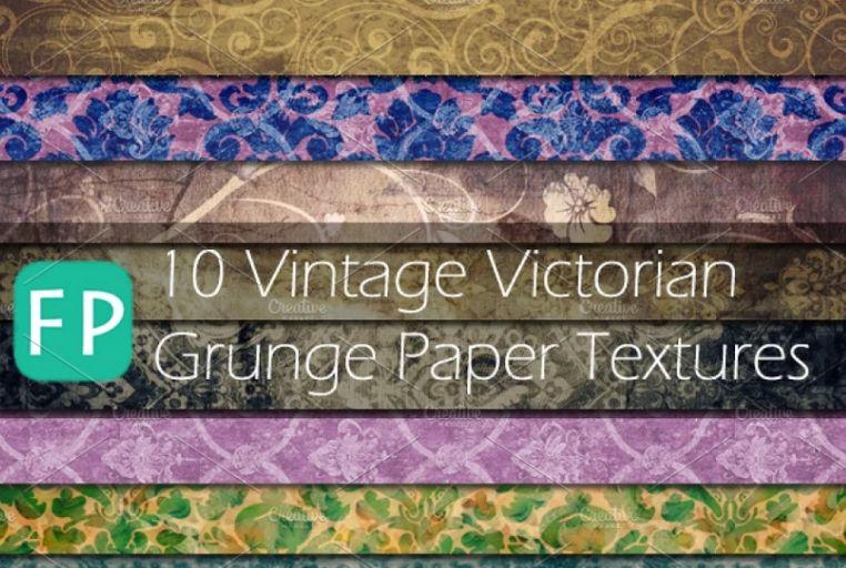 10 Vintage Victorian Grunge Papers