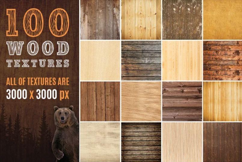 100 Wood Design Textures