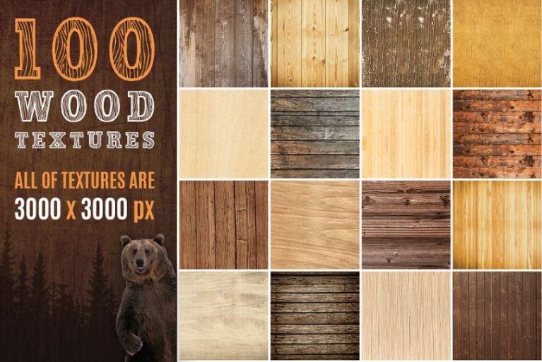 100 Wood Textures Design