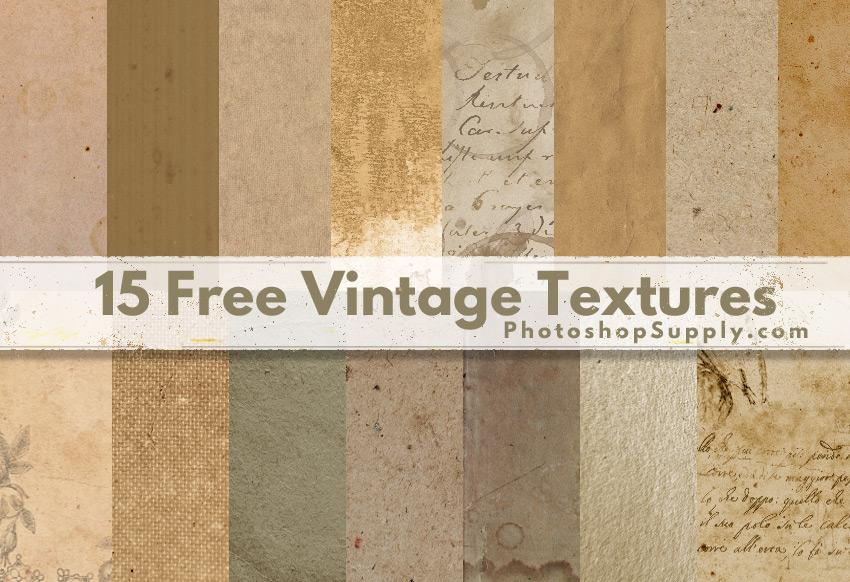 15 Free Vintage Textures