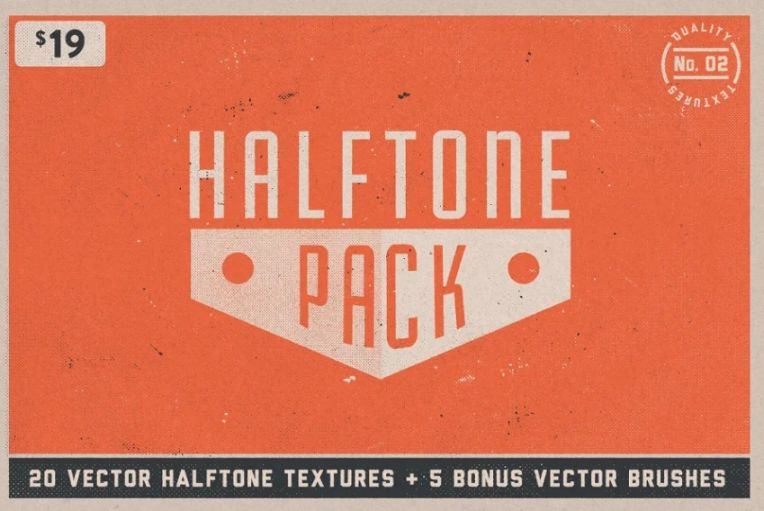 15 Halftone Paper Textures Pack