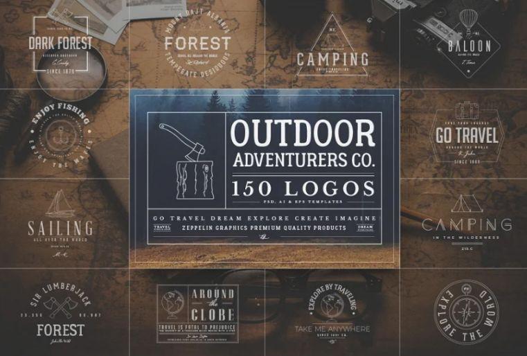 150 Outdoor Adventure Logos Pack