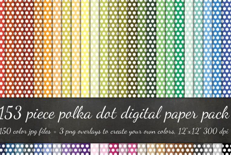 153 Mega Polka Dot Patterns Pack