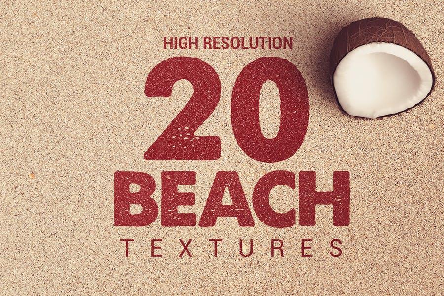 20 High Resolution Beach Textures