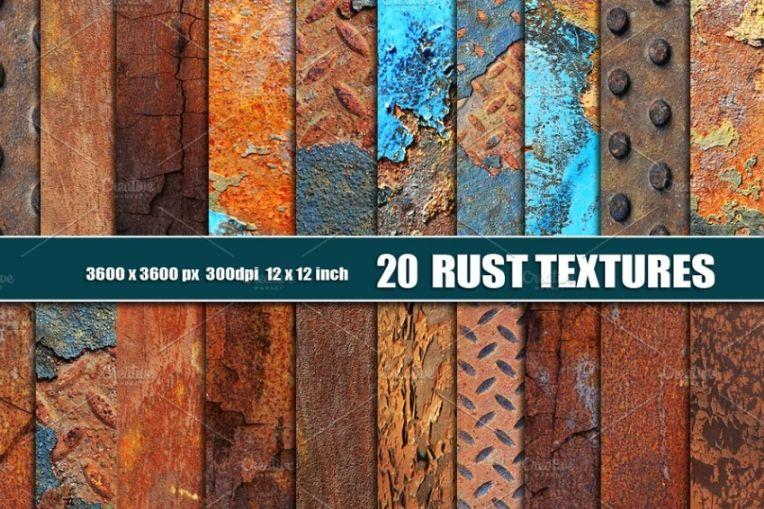 20 Industrial Rust Textures