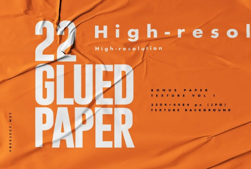 22 High Res Glued Paper Texture