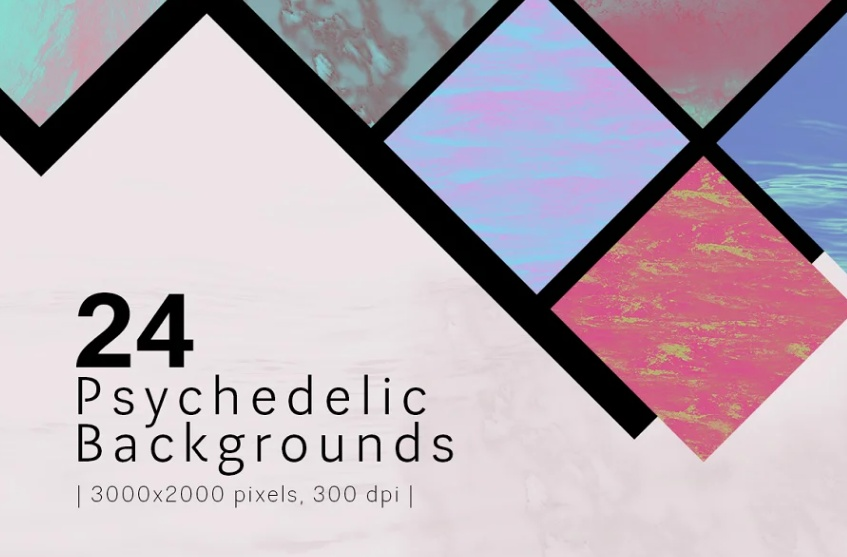 24 Professional Psychedelic Backgrounds