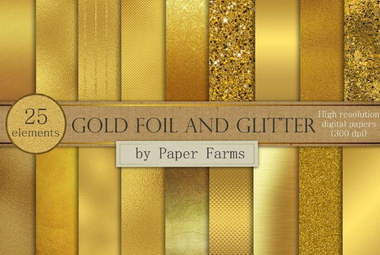 25 Gold Foil Textures