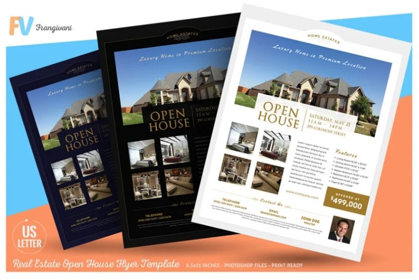 3 Professional Real Estate Flyers