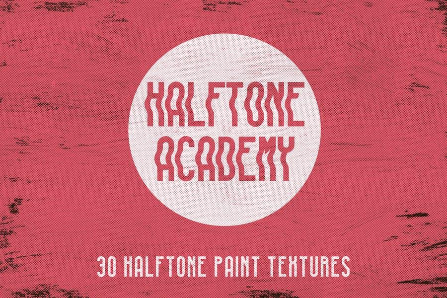 30 Halftone Paint Textures