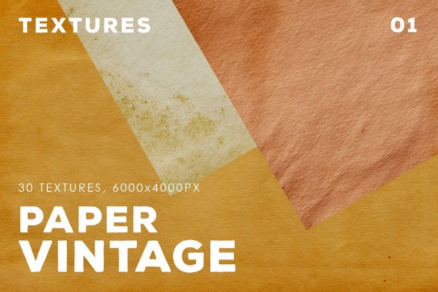 30 Vintage Paper Textures Pack