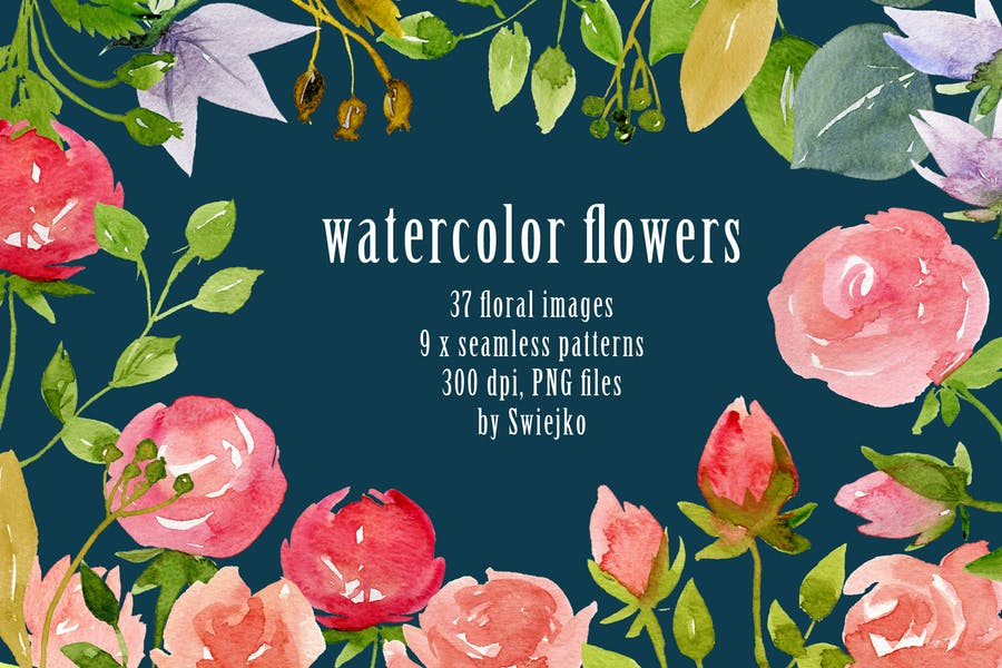 37 Watercolor Flower Backgrounds