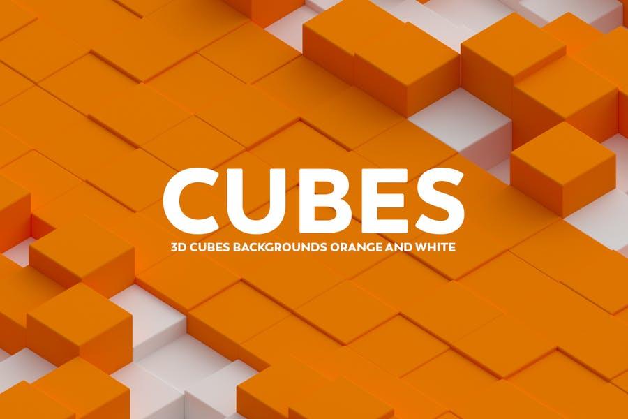 3D Cube Background Design