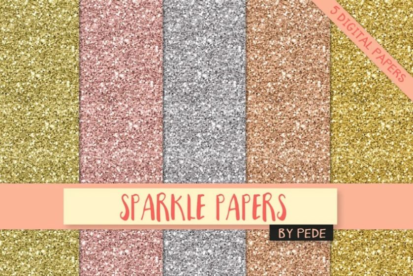 5 Creative Glitter Backgrounds
