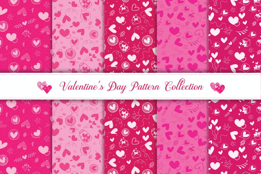5 Valentine Backgrounds