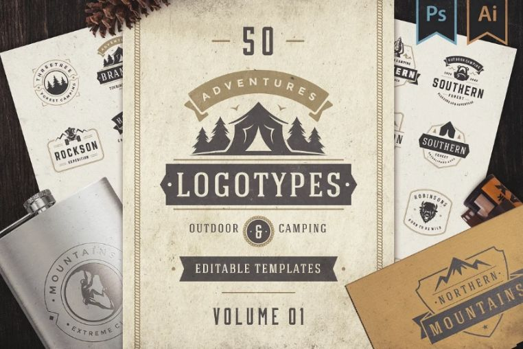 50 Adventure Logo and Badges
