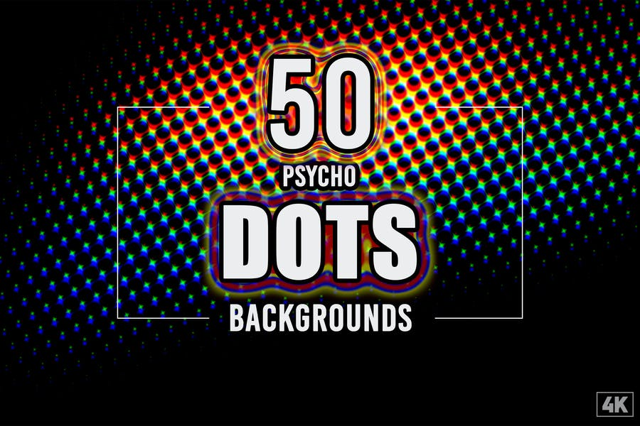 50 Psycho Dot Backgrounds
