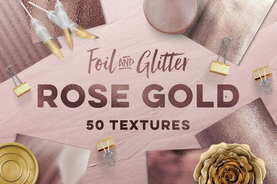 50 Rose Gold Textures Pack