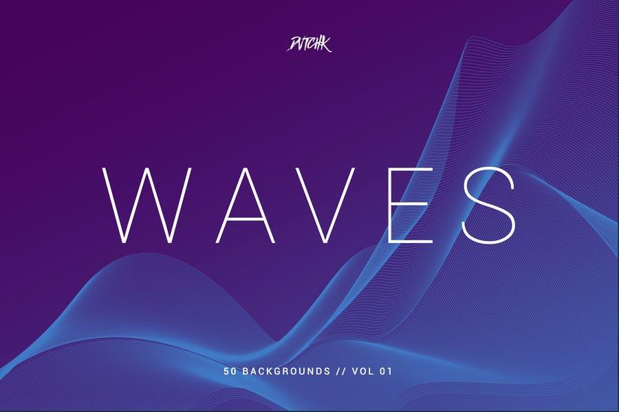 50 Unique Waves Background Design