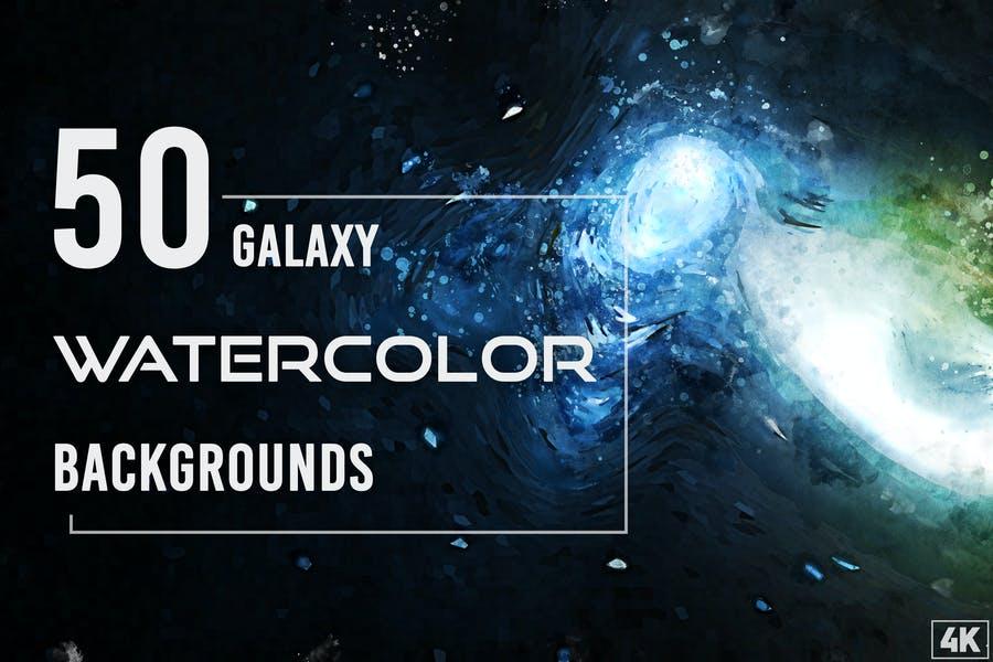 50 Watercolor Backgrounds Design