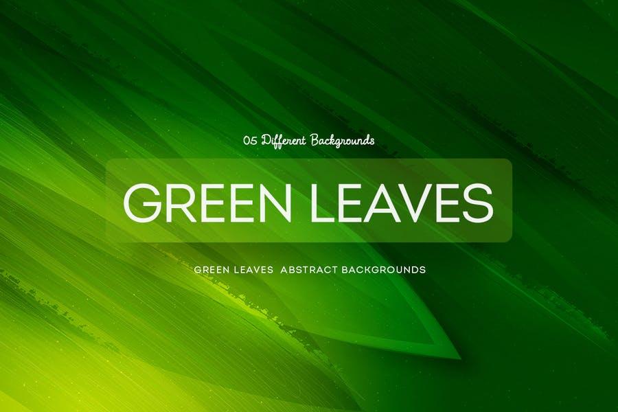 6 Green Leaves Background Design