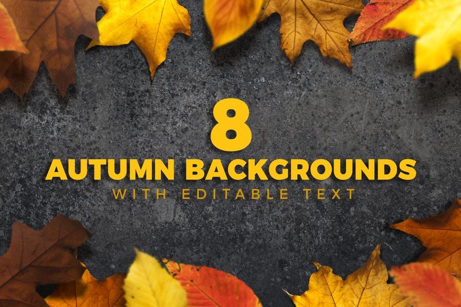 8 Editable Autumn Wallpapers