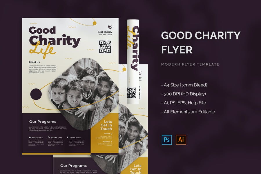 A4 Charity Night Flyer
