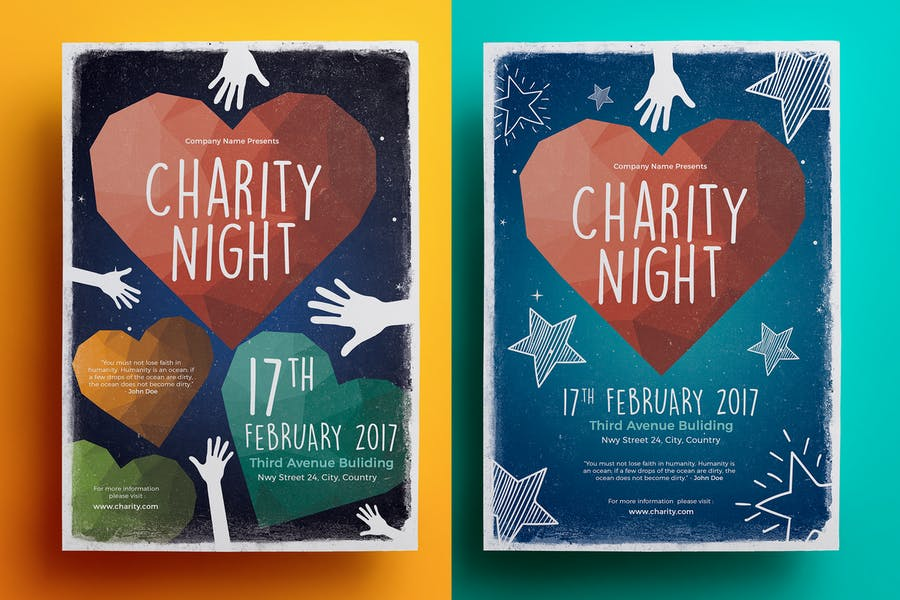A4 Charity Night Poster Template