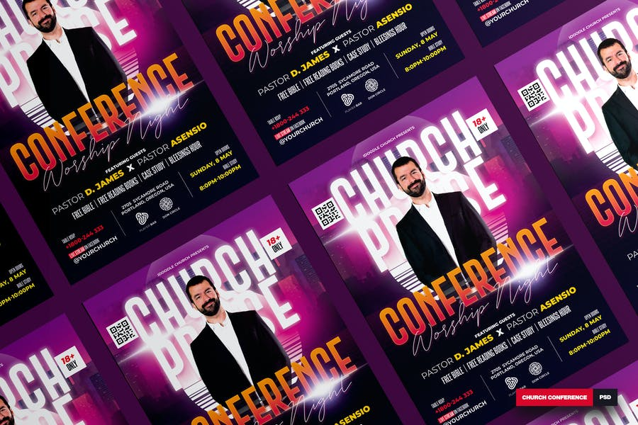 A4 Church Conference Flyer Template