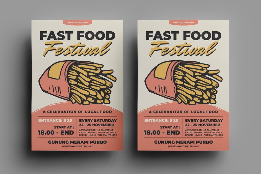 A4 Food Fesival Flyer