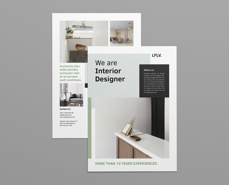 21+ Best Interior Designing Flyer Templates Download
