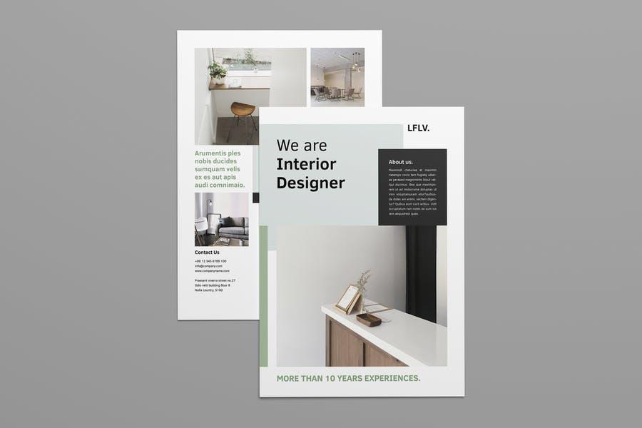 A4 Interior Designer Flyer